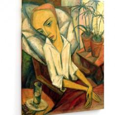 Tablou pe panza (canvas) - Dorothea Maetzel-Johannsen - The Sick Girl - 1919