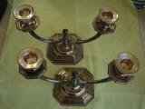 Pereche de Sfesnice cu Doua Brate - ARGINT Masiv 800/1000
