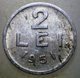 7.647 ROMANIA RPR 2 LEI 1951, Aluminiu