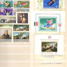 Romania.1976/1989 .Colectie cronologica timbre nestampilate in 1 (un) clasor
