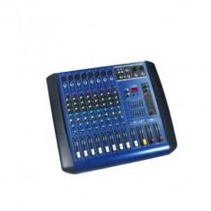 Mixer amplificat putere 380W, 4 iesiri, efecte digitale DSP, 8 canale
