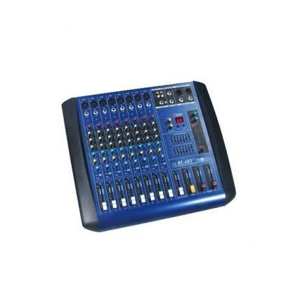 Mixer amplificat putere 380W, 4 iesiri, efecte digitale DSP, 8 canale RESIGILAT