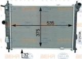Radiator, racire motor OPEL ASTRA F Combi (51, 52) (1991 - 1998) HELLA 8MK 376 716-091