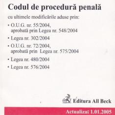 Codul de procedura penala - Actualizat 1.01.2005
