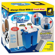 Mop rotativ revolutionar cu galeata Hurricane In and Out Mop