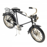 Macheta Bicicleta Retro din metal negru 16 cm x 5 cm x 9 h, Clayre & Eef