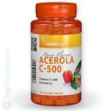 Vitamina C-500 masticabila cu acerola 40tab. gust capsuni Vitaking