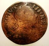 G.007 MAREA BRITANIE ANGLIA GEORGE III 1/2 HALF PENNY 1741