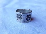 INEL argint MEXIC superb LAT tip verigheta neregulata DE EFECT patina FRUMOASA