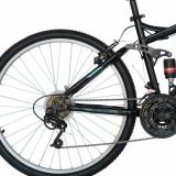 Bicicleta Mtb Velors 2460A roata 24 frana V-Brake negruportocaliu