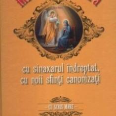 Mica Pravilioara cu sinaxarul indreptat, cu noii sfinti canonizati - cu scris mare/***