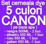 Cumpara ieftin Pachet 5 culori Cerneala CANON DYE CISS PGI5 CLI8 PGI520 CLI-521 PGI525 CLI-526...