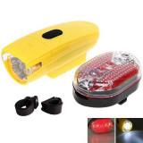 Set Lanterna LED si Stop Rosu Semnalizare Bicicleta KK830