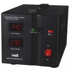 Stabilizator automat de tensiune cu servo motor Secure 2000VA, Well
