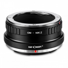 K&F Concept OM-Nik Z adaptor montura de la Olympus OM la Nikon Z6 Z7 KF06.371