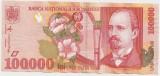 ROMANIA 100000 LEI 1998 AUNC
