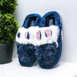 Papuci de casa dama albastri Cuisia-rl