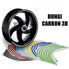 Dungi decorare jante - Carbon 3D