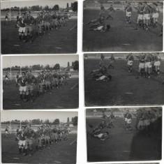 Lot 10 fotografii vechi echipa romaneasca de rugby