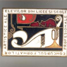 Insigna Concursul Formatiilor Artistice ale ELEVILOR - PIONIERI