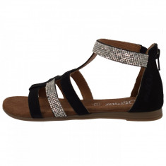 Sandale copii, din piele naturala, s.Oliver, 5-48210-20-01-15, negru