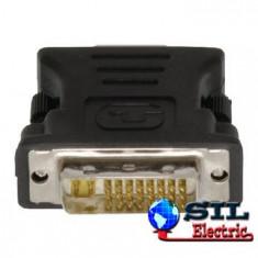 Adaptor DVI-I (24+5) tata > VGA mama, negru