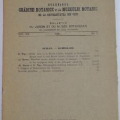 BULETINUL GRADINII BOTANICE SI AL MUZEULUI BOTANIC DE LA UNIVERSITATEA DIN CLUJ, VOL VIII, NR. 1 1928