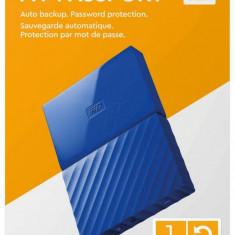 """HDD extern WD My Passport NEW 1TB, 2.5"""", USB 3.0, Albastru"""