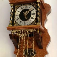 Ceas de perete cu pendula si greutati Wuba-Zaanse original