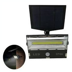 Proiector cu panou solar led COB de mari dimensiuni senzor de miscare si lumina