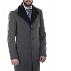 Palton Barbati Smart Casual din Lana B153 Gri