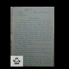 Manuscris / Scrisoare scrisa si semnata de Mircea Santimbreanu - 4 pag