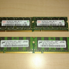 Memorii laptop SODIMM 4Gb DDR2 800 Mhz PC2-6400S (KIT 2x2Gb)