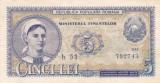 ROMANIA 5 LEI 1952 XF
