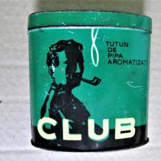 Cutie veche din tabla: Tutun de Pipa, Club - Fabrica de Tigarete Timisoara
