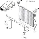 Radiator racire Logan Facelift 1.4/1.6 (fara ac) origine 8200735038