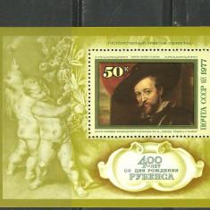 RUSIA 1977 – PICTURA RUBENS, colita MNH, DB4