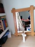Oglinda rama din lemn stejar lucrata manual