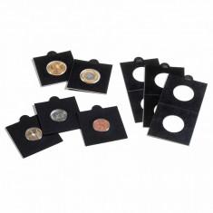 Rame (cartonase) autoadezive pentru monede - 25mm - 25buc. NEGRU