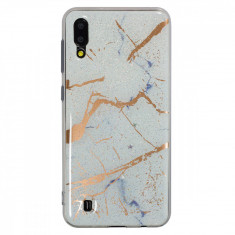 Husa Fashion Samsung Galaxy A70 Marble Alb