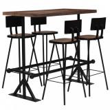Set mobilier de bar, 5 piese, lemn masiv reciclat, vidaXL