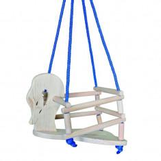 Leagan Lebada din lemn, franghie suspendare rezistenta, protectii laterale, pentru copii