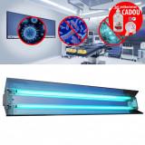 Cumpara ieftin Lampa bactericida UVC orientabila cu reflector, 2x55W, pentru sterilizare, 60 mp, IP20