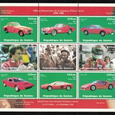 GUINEEA 1998- Sport, Masini Ferrari MNH