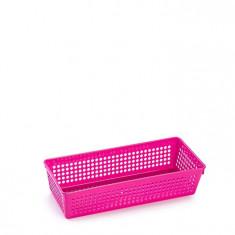 Cutie dreptunghiulara din plastic diverse intrebuintari-roz