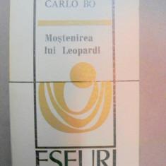 MOSTENIREA LUI LEOPARDI-CARLO BO BUCURESTI 1972