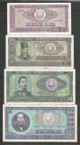 ROMANIA  LOT / SET 4 buc  : 10 + 25 + 50 + 100  LEI  1966  [6]  stari VF+ / XF