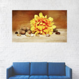 Tablou Canvas, Floare Galbena - 80 x 140 cm