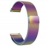 Curea otel, Milanese Slim Fit, compatibila Samsung Gear S2 Classic, telescoape QR, Cameleon