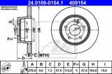 Disc frana MERCEDES C-CLASS Cupe (C204) (2011 - 2016) ATE 24.0109-0154.1